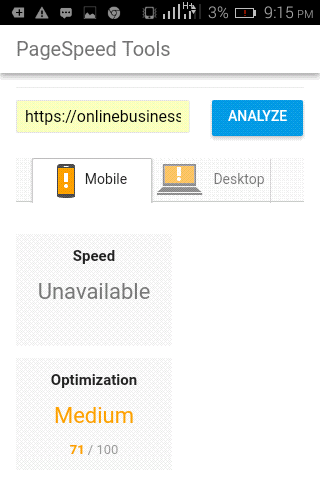 Top Mobile SEO: PageSpeed Insights