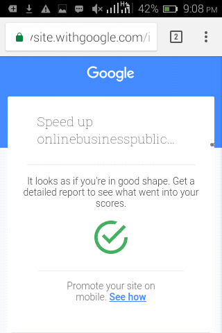 Top Mobile SEO: Test With Google - Report