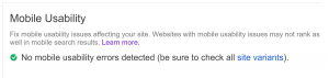 Top Mobile SEO: Google Mobile Usability Test Report