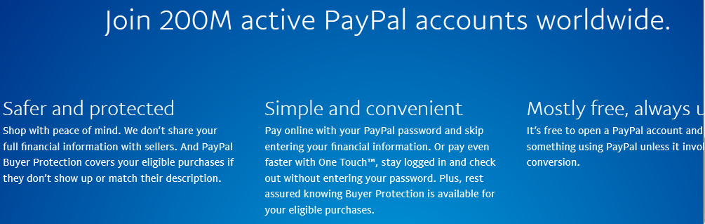 Over 200 Million Active PayPal Accounts