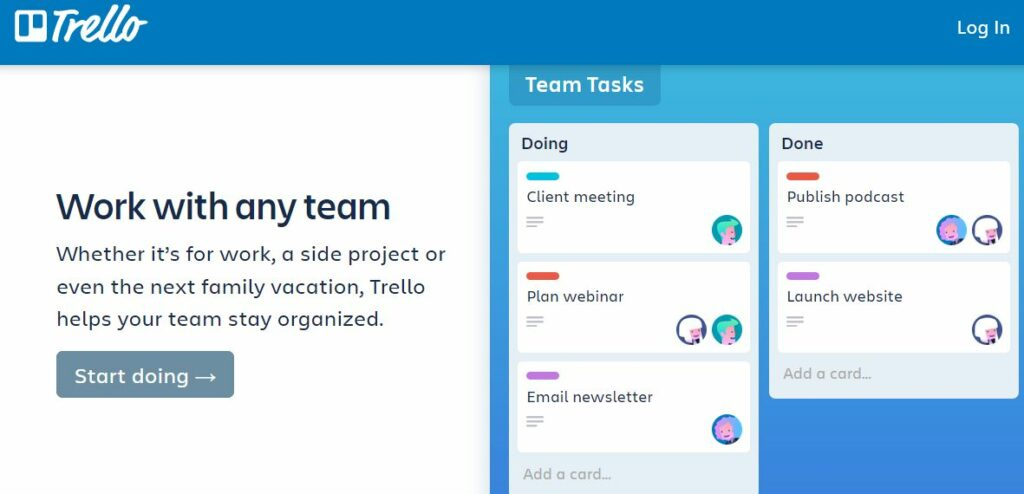 Trello is an online collaboration tool